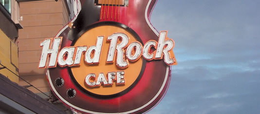 Guitar Sign at the Hard Rock Cafe Niagara Falls