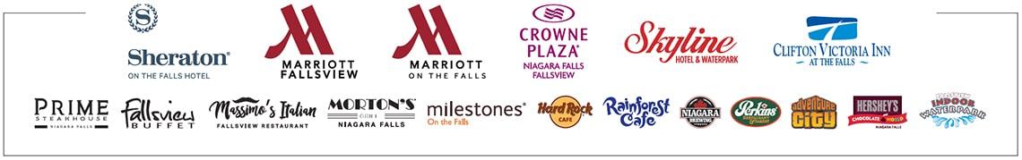 Falls Avenue Resort Preferred Partner Program Participating Property Logos