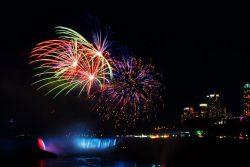 Watching fireworks is one of the top Niagara Falls things to do