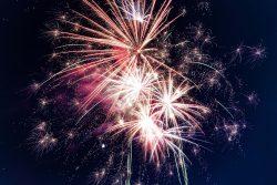 Niagara Falls fireworks.