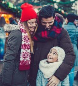 Family at Holiday Market