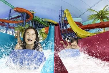 Fallsview Indoor Waterpark Racing Slides